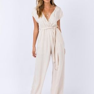 Princess Polly sian jumpsuit in beige